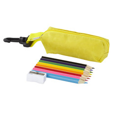 Set matite e borsellino - colore Giallo