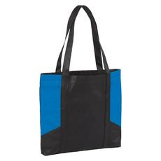 Shopper bicolore con manici lunghi - colore Process Blu
