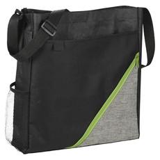 Shopper convention in poliestere - colore Nero/Lime