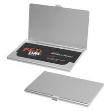 Porta biglietti da visita alluminio - colore Argento