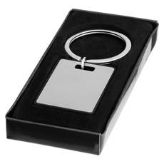 Portachiavi in alluminio con bordi colorati - colore Argento/Nero