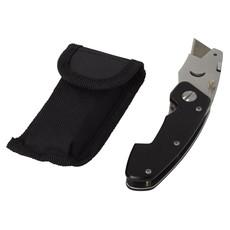 Taglierino pieghevole STAC con custodia - colore Nero