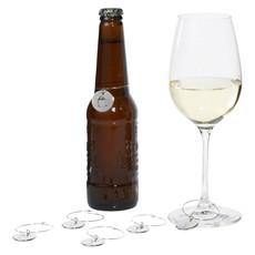 Targhetta per bottiglia - colore Argento