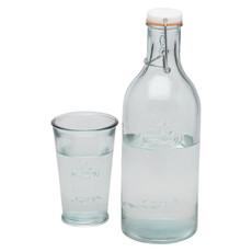 Caraffa per acqua con bicchiere - colore Trasparente