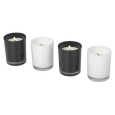 Set 4 pezzi candele Hills - colore Bianco/Nero