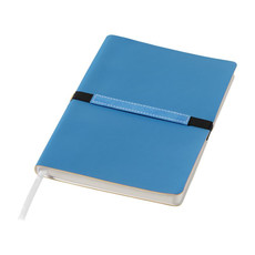 Notebook A5 Stretto con fascia elastica - colore Blu