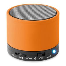 Bluetooth tondo con cavo AUX e porta USB colore arancio MO8726-10