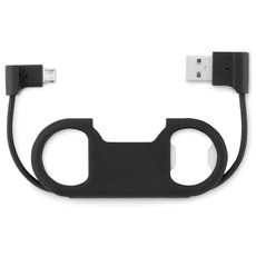 Apribottiglie con USB e micro USB colore nero MO9346-03