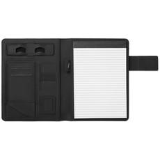 Porta blocco A5 a righe con powerbank colore nero MO9231-03