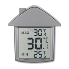 Termometro a forma di casa con ventosa colore argento opaco MO7456-16