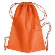 Sacca leggera in TNT con chiusura coulisse colore arancio MO8031-10