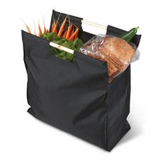 Shopper con manici in legno colore nero KC1502-03