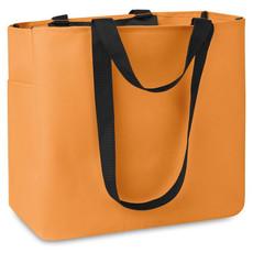Shopper con tasche laterale e interna colore arancio MO8715-10