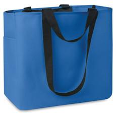 Shopper con tasche laterale e interna colore blu royal MO8715-37