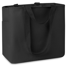 Shopper con tasche laterale e interna colore nero MO8715-03