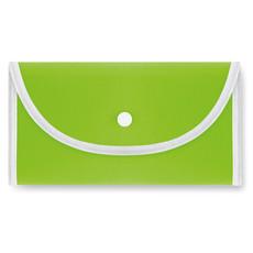Shopper richiudibile con chiusura inplastica colore lime IT2547-48
