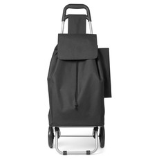 Trolley spesa con zip e porta ombrello colore nero MO8635-03