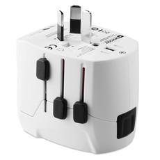 Adattatore innovativo adatto a piu di 100 paesi colore bianco MO9322-06