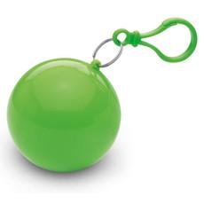 Impermeabile in confezione sferica con moschettone colore lime MO7421-48