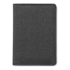 Porta carte di credito in poliestere colore nero MO9106-03
