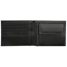 Portafoglio da uomo in similpelle colore nero MO8351-03