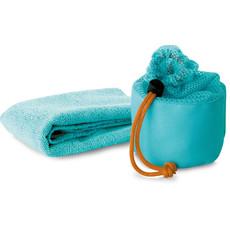 Asciugamano per viso con sacca abbinata colore blu KC6809-04