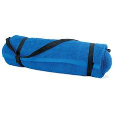 Asciugamano spiaggia con cuscino in cotone colore blu royal MO7334-37