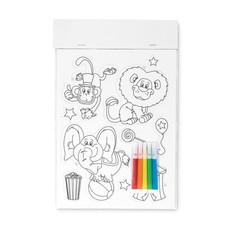 Animali magnetici da colorare con pennarelli colore bianco MO9229-06