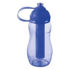 Bottiglia da 400ml con stick refrigerante colore blu trasparente MO3519-23
