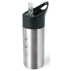 Bottiglia termica 50 cl con cannuccia richiudibile colore argento opaco MO7841-16
