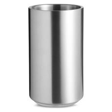 Cilindro porta bottiglie con doppio strato in acciaio inox colore argento opaco MO7890-16