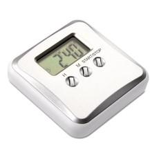 Timer con clip metallica e sveglia colore argento opaco KC6870-16