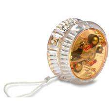 Yo-yo con luce in plastica con 2 pile colore arancio IT3854-10