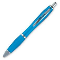 Penna a sfera in ABS con rifiniture in silver colore turchese KC3314-12