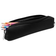 Astuccio portamatite in spugna con moschettoni colore nero MO8176-03