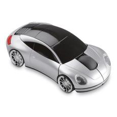 Mouse wireless a forma di automobile colore argento opaco MO7641-16