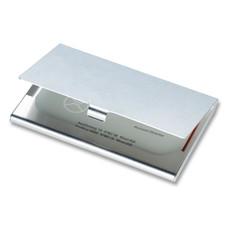 Porta biglietti da visita in alluminio colore argento lucido KC2225-17