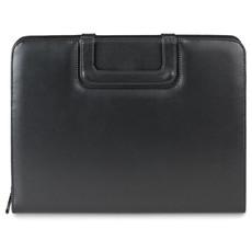 Portadocumenti con manici pieghevoli e porta cellulare colore nero MO8855-03