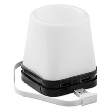 Portapenne con 4 porte usb luce LED e supporto smartphone colore nero MO9317-03