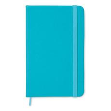 Quaderno 96 fogli neutri con cover soft in PU colore turchese MO1800-12