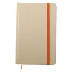 Quaderno con 96 pagine bianche in cartone riciclato colore arancio MO7431-10
