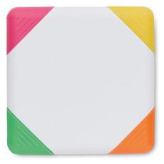 Set evidenziatori in confezione quadrata colore bianco MO8783-06