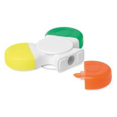 Spinner con 3 evidenziatori colore bianco MO9157-06