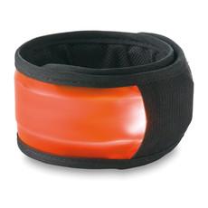 Banda per braccio riflettente con led e 2 effetti luce colore arancio MO8879-10