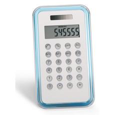 Calcolatrice 8 cifre solare tascabile in metallo e plastica colore blu trasparente KC2656-23