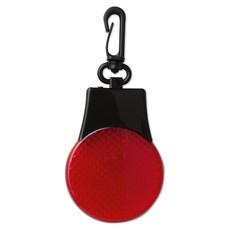 Luce di sicurezza con 3 led e moschettone colore rosso MO8277-05