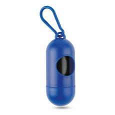 Porta sacchetti igienici per animali cilindrico colore blu MO7681-04