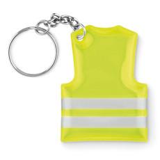 Portachiavi con gilet catarifrangente colore giallo neon MO9199-70