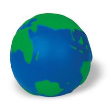 Antistress a forma di mondo 3D in PU colore blu-verde KC2707-45