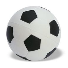 Antistress a forma di pallone da calcio in PU colore bianco-nero KC2718-33